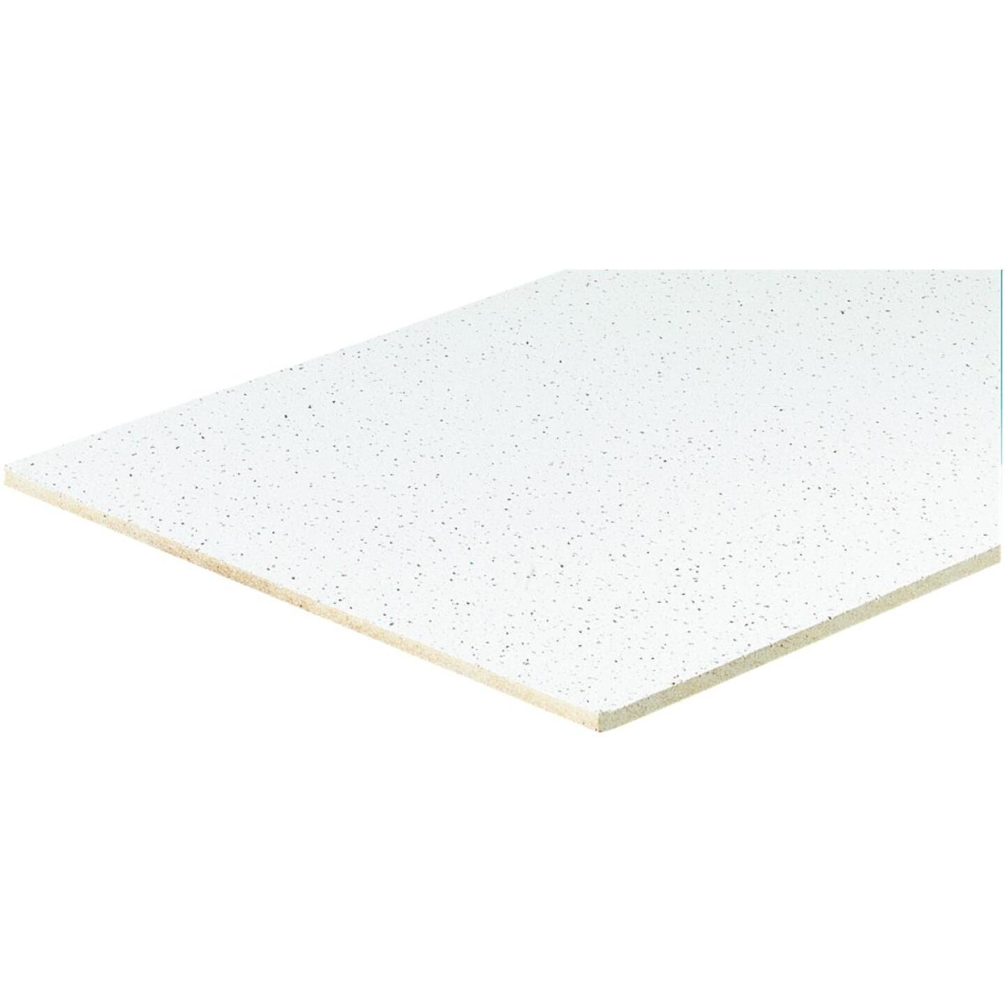 Radar Fissured 2 Ft. x 2 Ft. White Mineral Fiber Square Edge Suspended Ceiling Tile (16-Count) Image 2