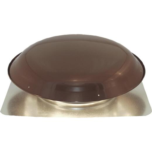 Ventamatic 1400 CFM Galvanized Steel Energy Efficient Power Roof Mount Attic Vent Brown
