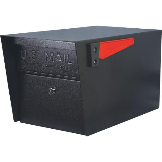 Mail Boss Mail Manager Black Steel Locking Security Post Mount Mailbox