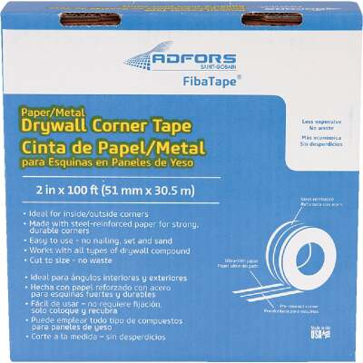 FibaTape 2 In. x 100 Ft. Steel Reinforced Corner Drywall Tape