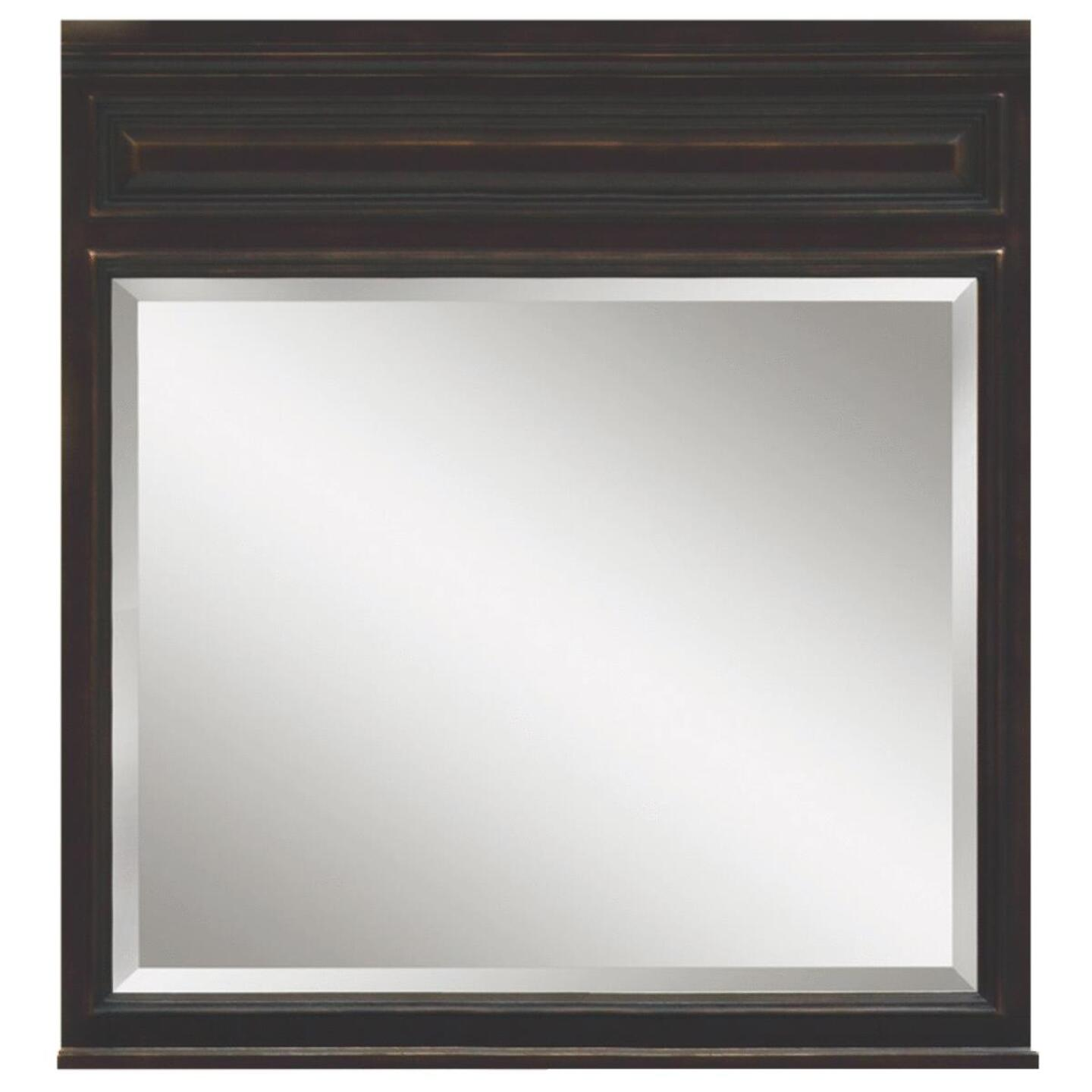 Sunny Wood Barton Hill Black Onyx 36 In. W x 38 In. H Vanity Mirror Image 1