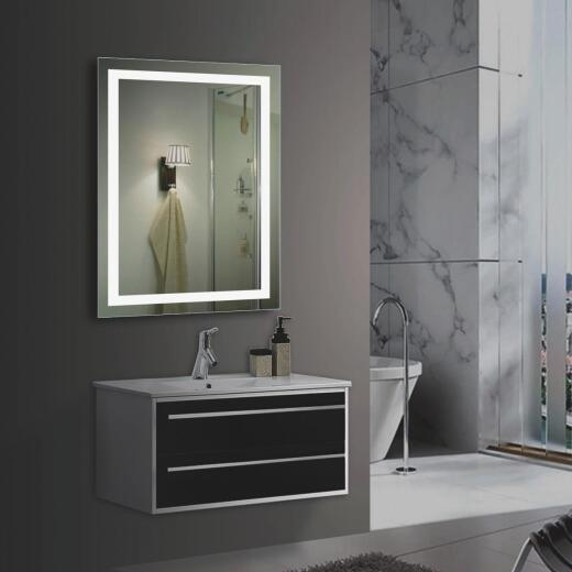 Lighted Impressions Vero Frameless 19.63 In. W x 27.25 In. H Vanity Mirror with Four LED Light Strips