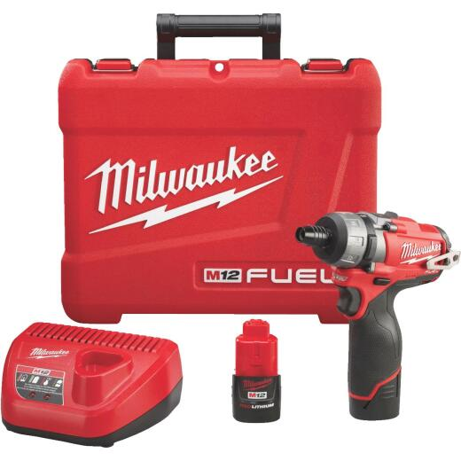 Milwaukee M12 FUEL 12-Volt Lithium-Ion Brushless 1/4 In. Cordless Screwdriver Kit
