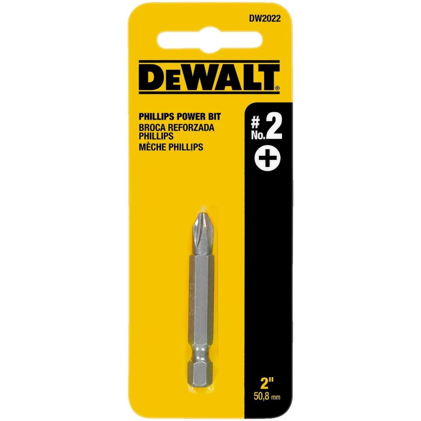 DeWalt Phillips #2 x 2 In. Power 2 In. Screwdriver Bit Display Image 1