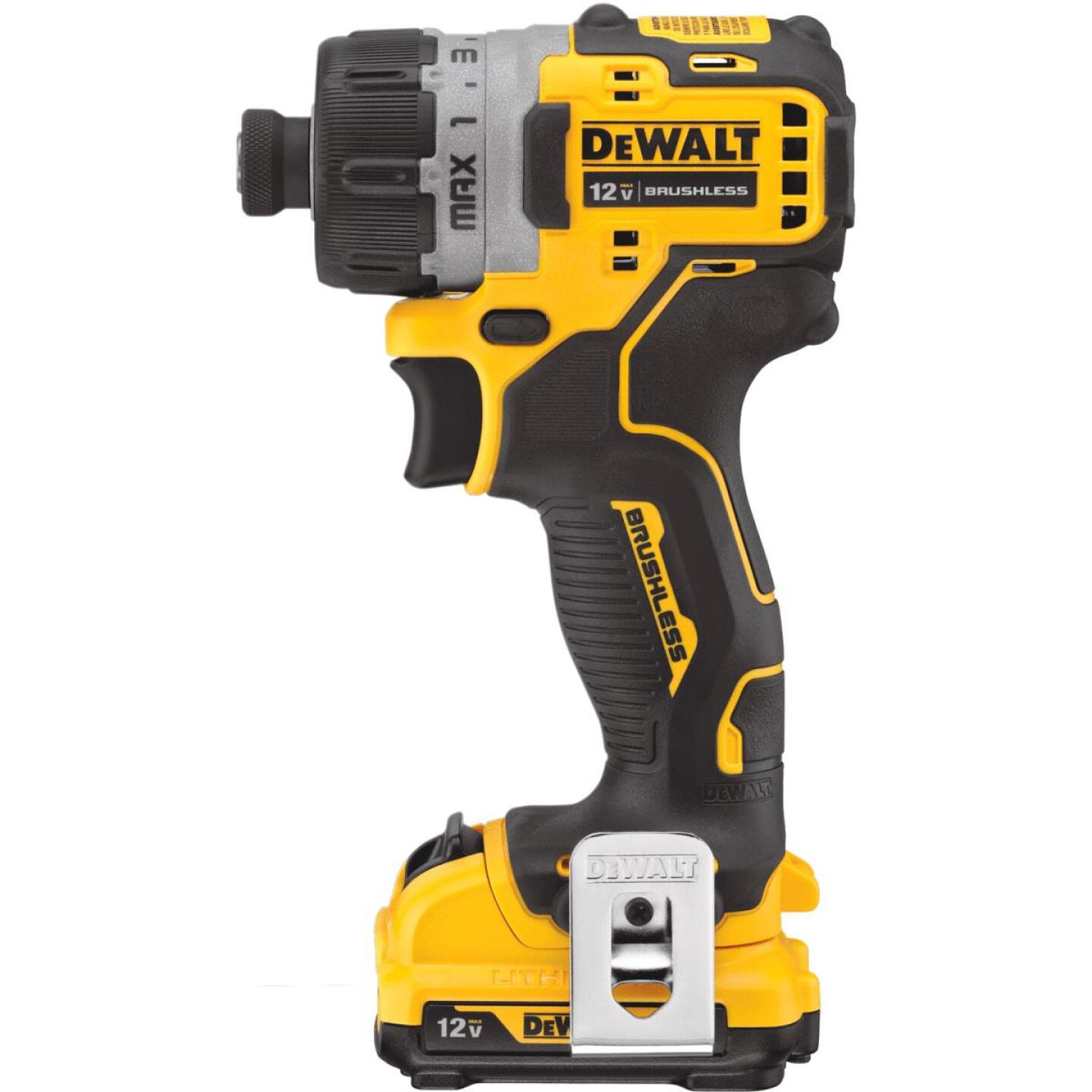 DeWalt XTREME 12V MAX Lithium-Ion 1/4 In. Brushless Cordless Screwdriver Kit Image 2