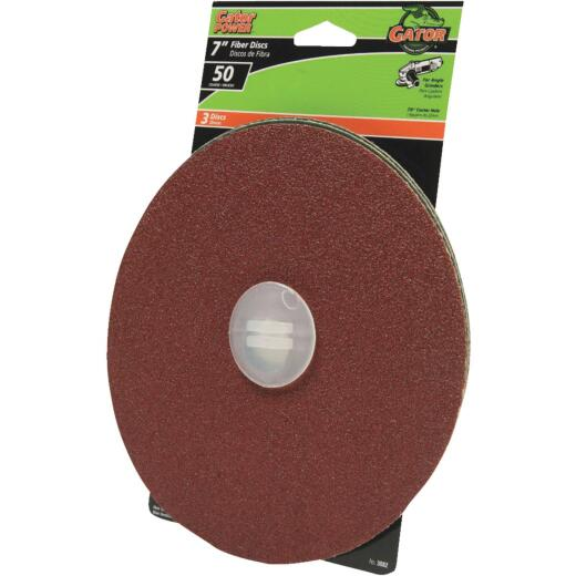 Gator 7 In. 50 Grit Fiber Disc (3-Pack)