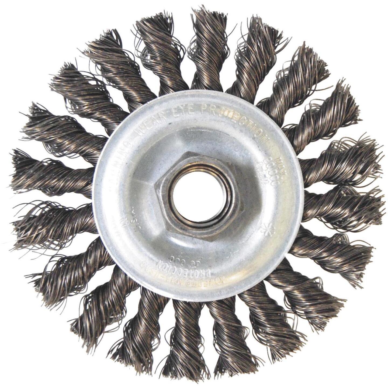 Weiler Vortec 4 In. Stringer Bead 0.014 In. Angle Grinder Wire Wheel Image 1