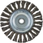 Weiler Vortec 6 In. Twisted, Coarse to 1/2 In. Bench Grinder Wire Wheel Image 1