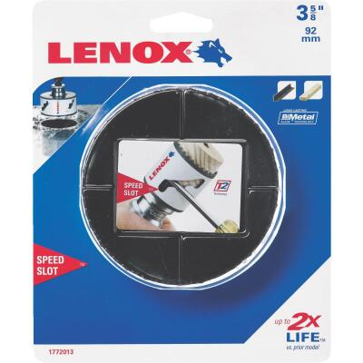 Lenox Speed Slot 3-5/8 In. Bi-Metal Hole Saw