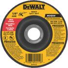 DeWalt HP Type 27 4 In. x 1/4 In. x 5/8 In. Metal Grinding Cut-Off Wheel Image 1