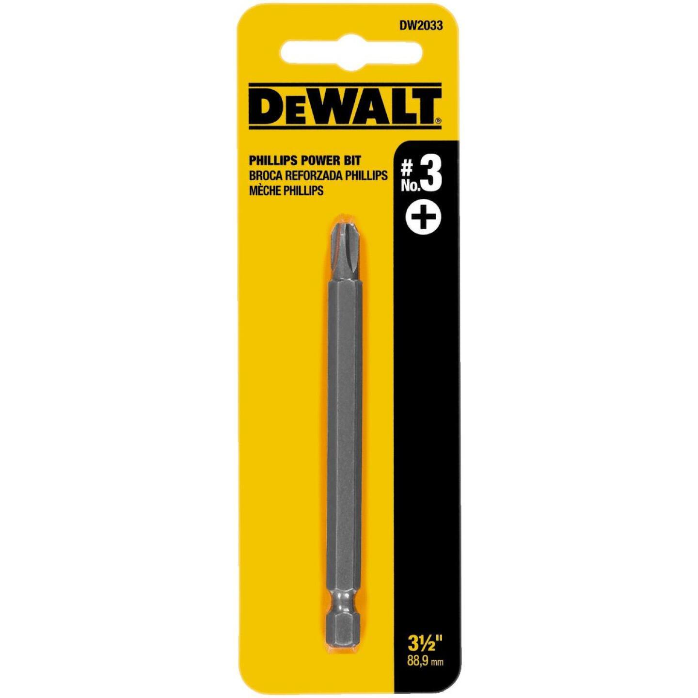 DeWalt Phillips #3 3-1/2 In. 1/4 In. Power Screwdriver Bit Image 2
