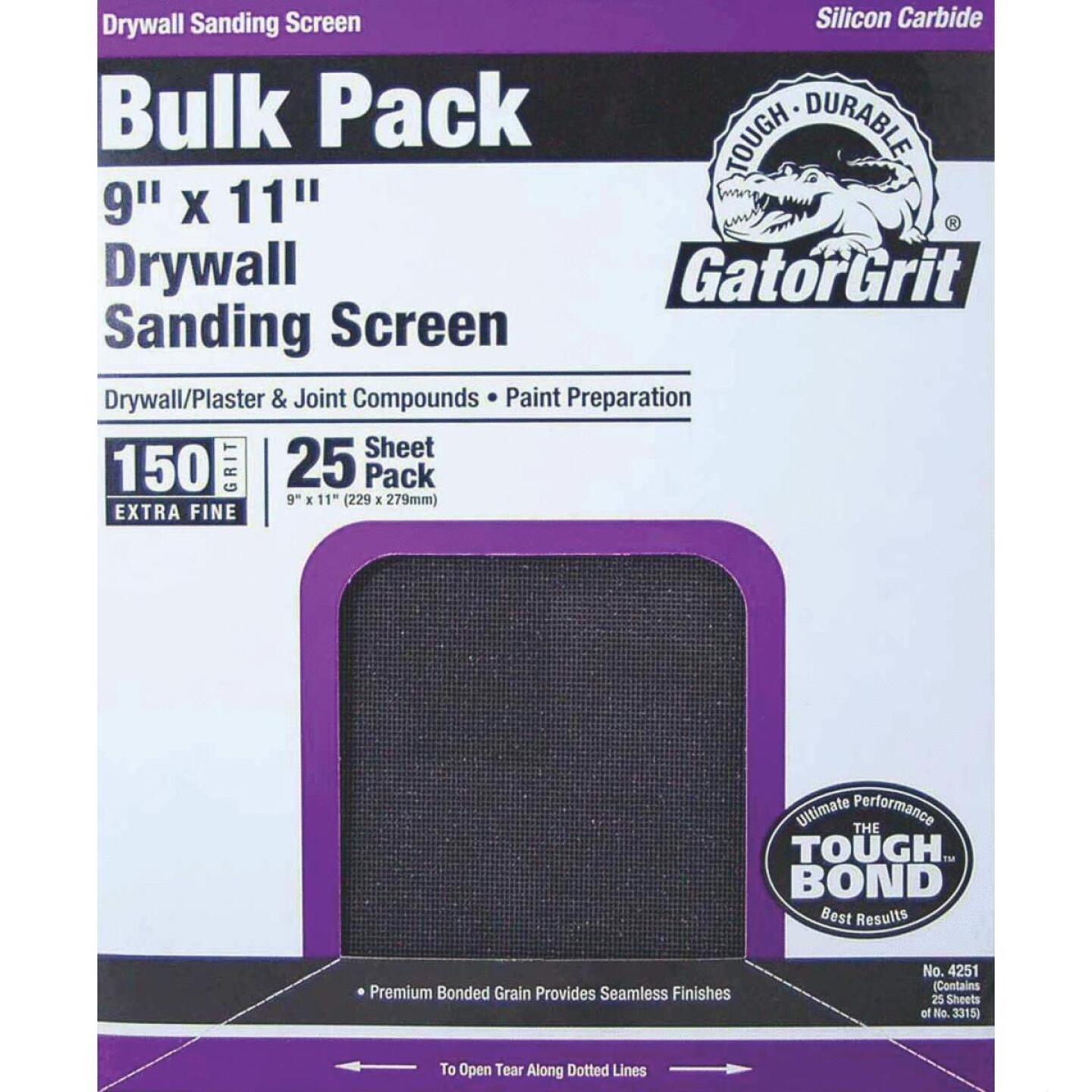 Gator Grit 150 Grit 9 In. x 11 In. Drywall Sanding Screen (25 Pack) Image 1