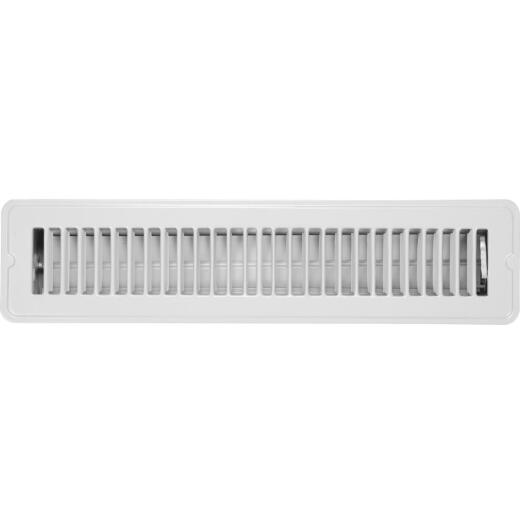 Home Impressions 2-1/4 In. x 14 In. White Steel Floor Register