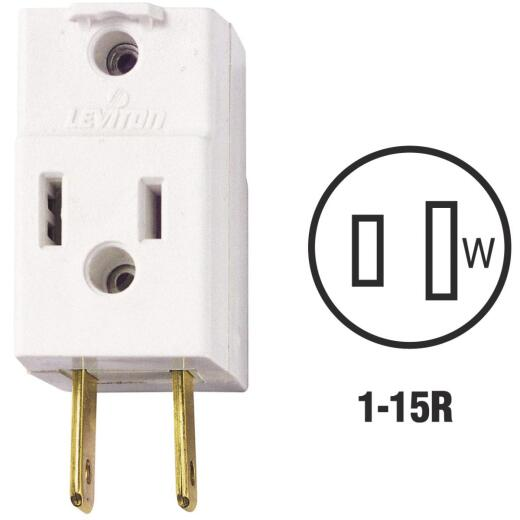 Leviton White 15A 3-Outlet Cube Tap