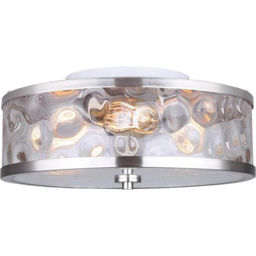 Home Impressions Cala 16 In. Brushed Nickel Incandescent Flush Mount Light Fixture