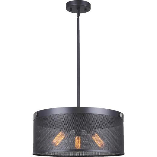 Home Impressions Rey 3-Bulb Graphite Chandelier