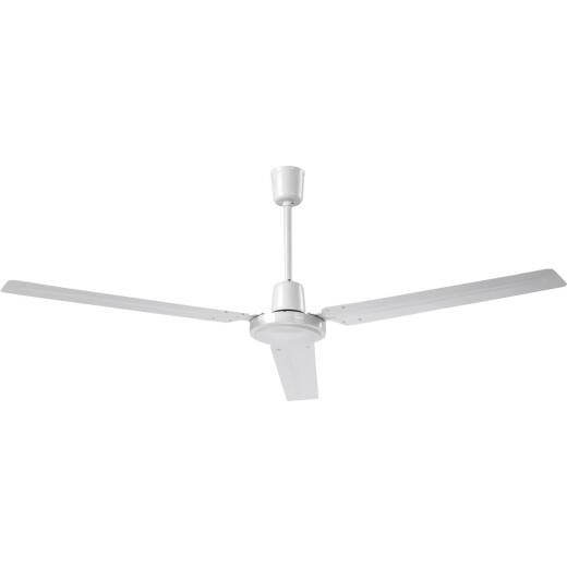 Home Impressions Industrial 56 In. White Ceiling Fan