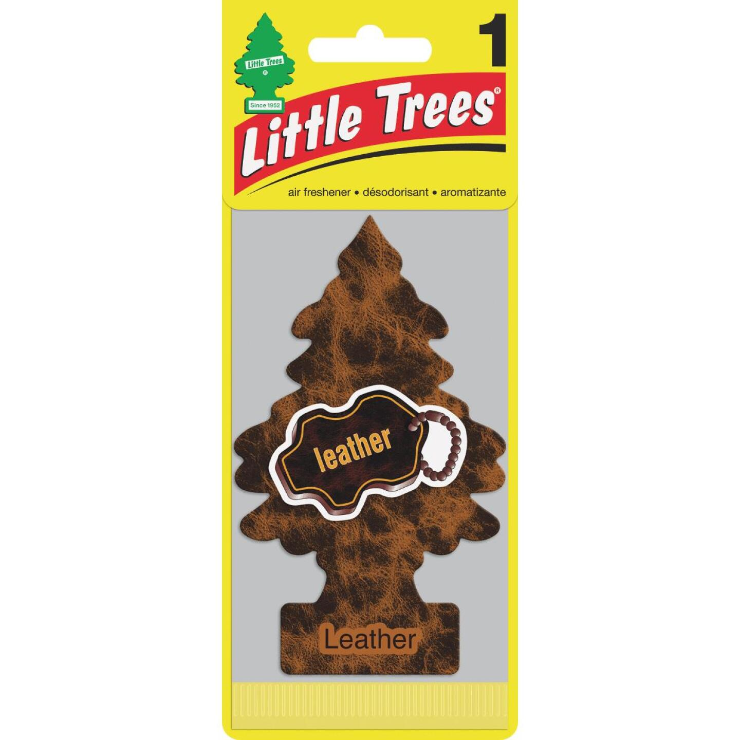 Little Trees Car Air Freshener, Leather Image 1