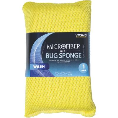 Viking 3-1/2 In. W x 6 In. L x 1-1/2 In. W Microfiber Mesh Car Wash Sponge