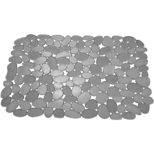 InterDesign Pebblz 10.5 In. x 12.25 In. Graphite Sink Mat