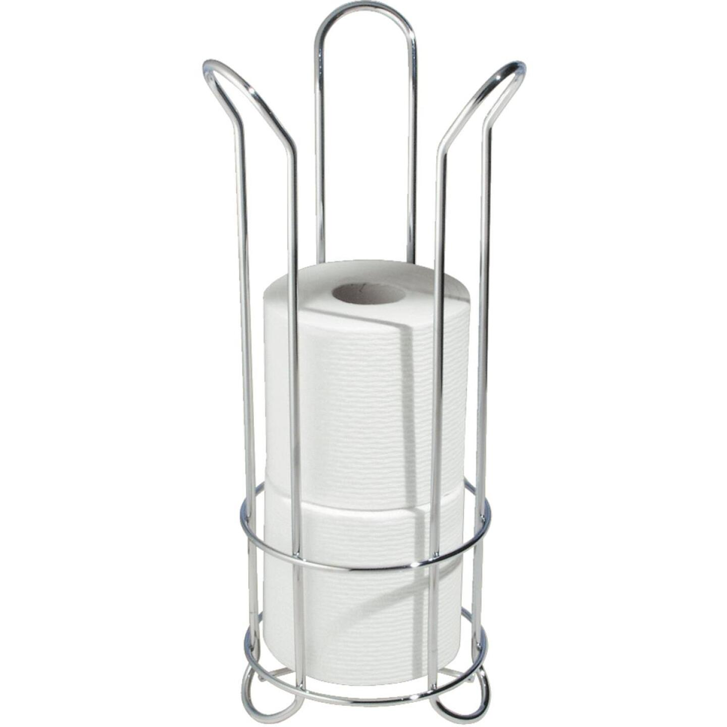 InterDesign Forma Chrome Tulip Freestanding Toilet Paper Holder Image 1