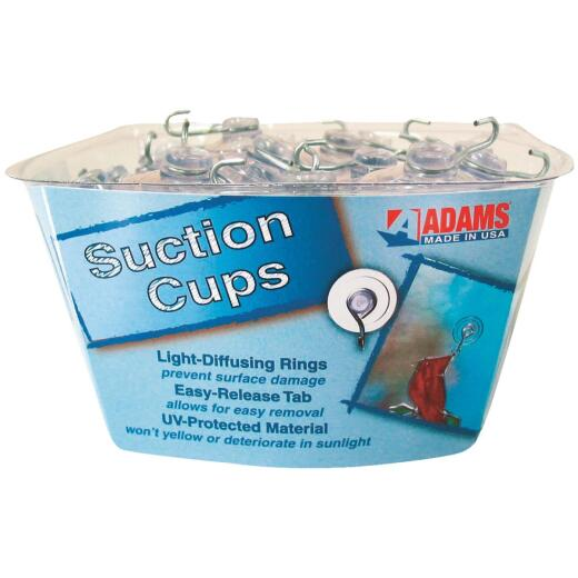 Adams Bulk Counter Display Of 1-3/4 In. 3 Lb. Holding Capacity Suction Cup with Hook
