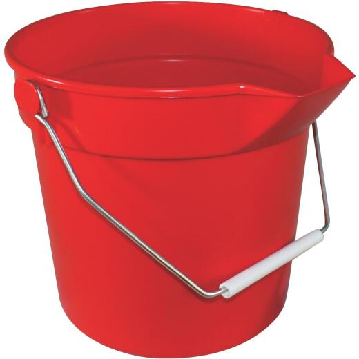 Impact 10 Qt. Red Heavy-Duty Bucket