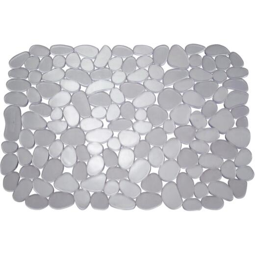 InterDesign Pebblz 12 In. x 15.5 In. Graphite Sink Mat