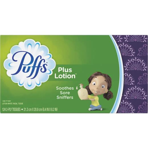 Puffs Plus Lotion Facial Tissue (124 Count)
