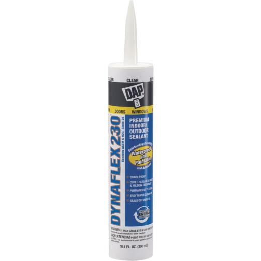DAP DYNAFLEX 230 10.1 Oz. 100% Waterproof Window, Door, Siding & Trim Elastomeric Sealant, Clear
