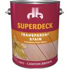 Duckback SUPERDECK Transparent Exterior Stain, Canyon Brown, 1 Gal. Image 1