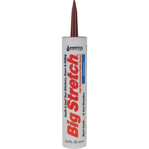 Sashco Big Stretch 10.5 Oz. Redwood Acrylic Elastomeric Caulk