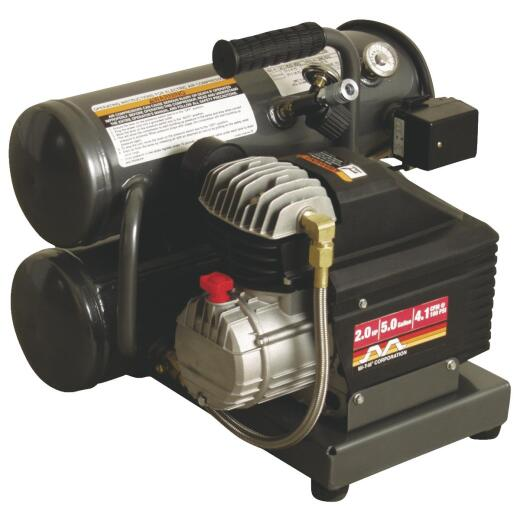 Mi-T-M 5 Gal. Portable 100 psi Twin-Stack Air Compressor